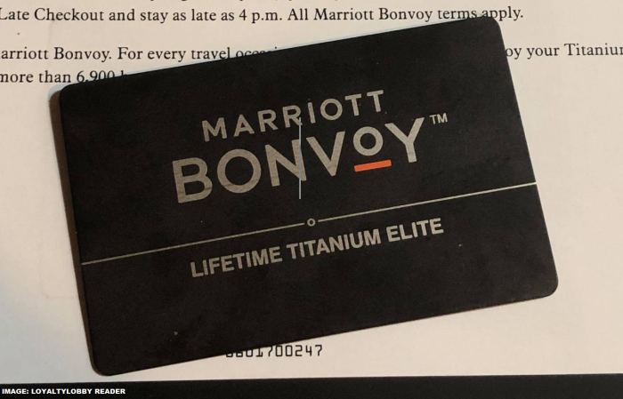 Marriott Bonvoy Titanium Elite Card