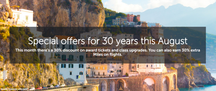 Turkish Airlines Miles&Smiles Award Specials July 2019