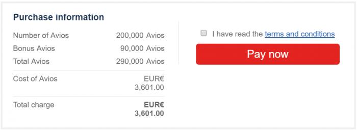 British Airways Executive Club Buy Avios Campaign August 2019 Price