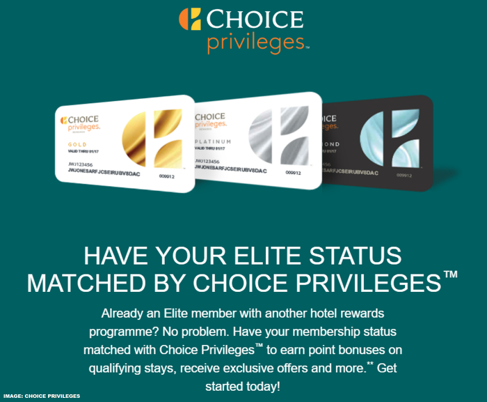 Choice Hotels - Choice Privileges Status Match 2019