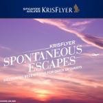 Singapore Airlines Krisflyer Spontaneous Escapes