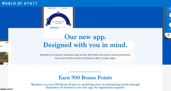 World of Hyatt App Bonus