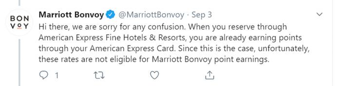 Marriott Bonvoy Tweet