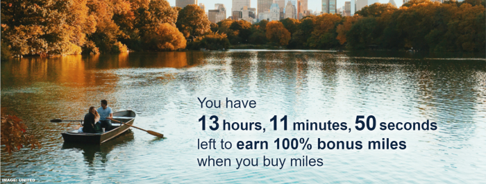 United Airlines MileagePlus Buy Miles Flash Sale September 2019
