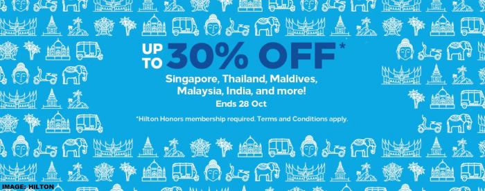 Hilton Honors Southeast Asia + India Sale Fall 2019