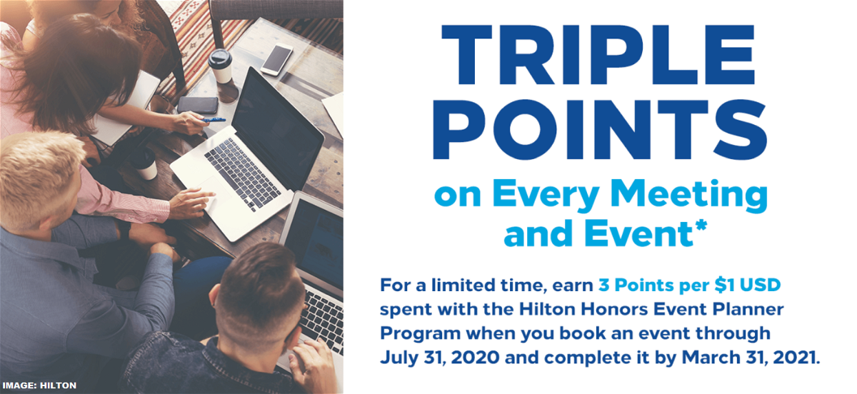 Hilton Honors Meeting Planner Offer 2020